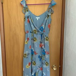 Maurice floral hi low dress